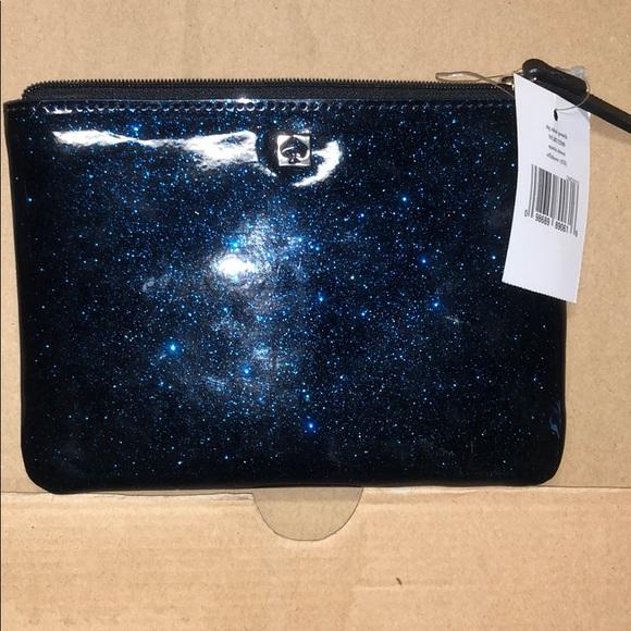 kate spade Handbags - slg mini pouch (glitter blue)